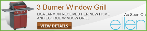 3 Burner Window Grill